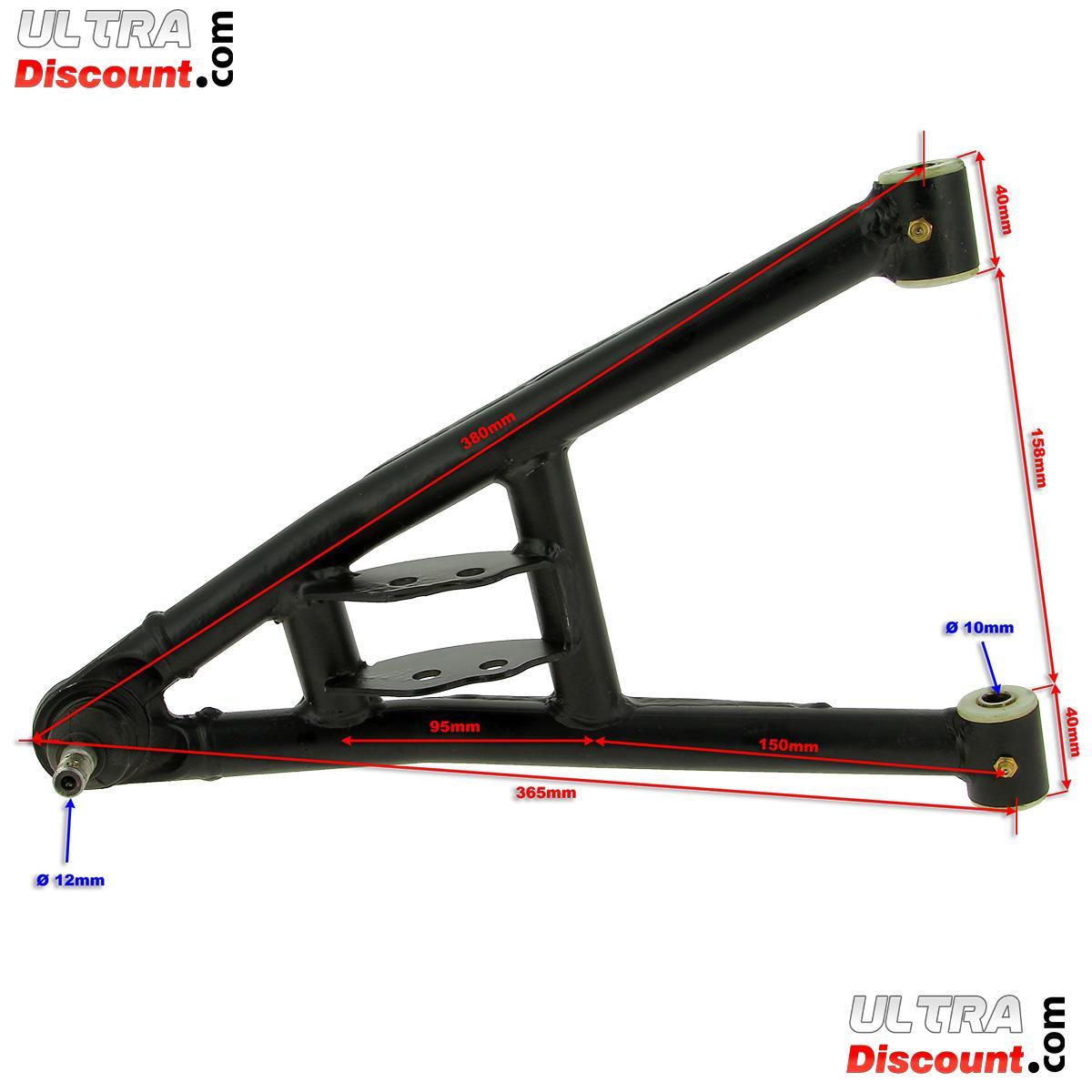 triangle de suspension inf rieur gauche pour quads shineray 200st 9 pi ces shineray 200 st9. Black Bedroom Furniture Sets. Home Design Ideas